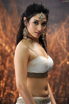 Tamanna Bhatia wet and wild navel and cleavage